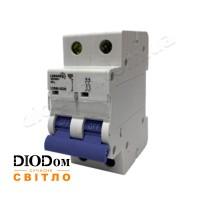 Автоматический выключатель 10A 4,5кА 2 полюса тип С LCB45 Lemanso