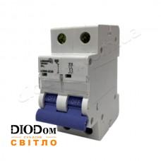 Автоматический выключатель 6A 4,5кА 2 полюса тип С LCB45 Lemanso