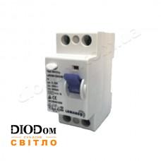 Дифференциальный автомат 40A 6,0kA 2 полюса тип АС LRC60 Lemanso