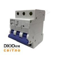 Автоматический выключатель 10A 4,5кА 3 полюса тип С LCB45 Lemanso