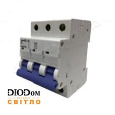Автоматический выключатель 25A 4,5кА 3 полюса тип С LCB45 Lemanso