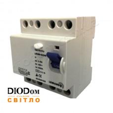 Дифференциальный автомат 63A 6,0kA 4 полюса тип АС LRC60 Lemanso