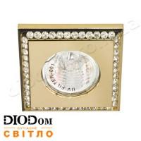 Светодиодный светильник Feron DL102-C MR16 50W (плоскоповоротный) прозрачный золотой