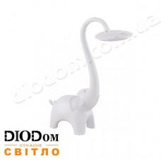 Настольная светодиодная лампа sensor JUMBO  LED 6W (слон, белый) HOROZ