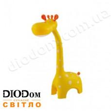 Настольная светодиодная лампа sensor ASTRO LED 6W (жираф, желтый) HOROZ
