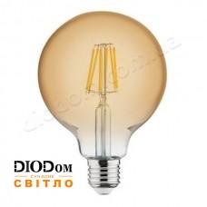 Лампа светодиодная Filament RUSTIC GLOBE 6W 2200К E27 HOROZ