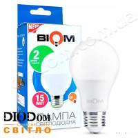 Лампа светодиодная груша BT-515 15W E27 3000К BIOM