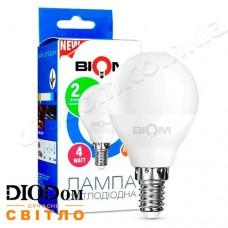 Лампа светодиодная шар BT-546 4W E14 4500К BIOM