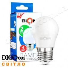 Лампа светодиодная шар BT-544 4W E27 4500К BIOM