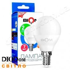 Лампа светодиодная шар BT-565 7W E14 3000К BIOM