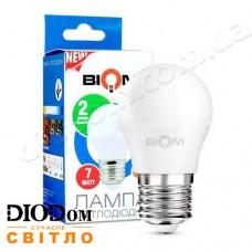 Лампа светодиодная шар BT-563 7W E27 3000К BIOM