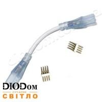 Коннектор для светодиодных лент (LD-XS-C08) 220В 5050 RGB 2 разъема-провод + 4pin BIOM
