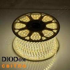Светодиодная 120 LED лента 220V SMD3014 IP67 (теплый белый) 7W BIOM