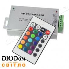 Контроллер RGB 24А с радио-пультом д/у 24 кнопки 144W BIOM