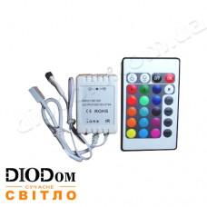 Контроллер RGB 6А с ик-пультом 24 кнопки 72W BIOM