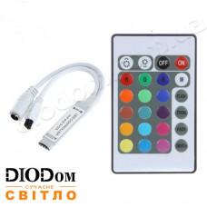 Контроллер mini RGB 6А с ик-пультом 24 кнопки 72W BIOM