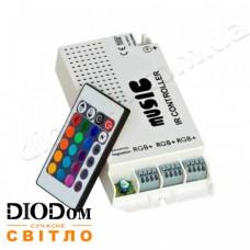 Контроллер RGB music 9А с ик-пультом 24 кнопки 108W BIOM