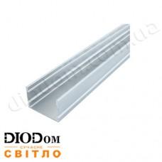 Комплект Biom 20х30 широкий профиль+рассеиватель 2м (накладной алюминиевый профиль+матовый рассеиватель)