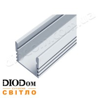 Комплект Biom 12х16 профиль+рассеиватель 2м (накладной алюминиевый профиль+матовый рассеиватель)