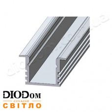 Комплект Biom 12х16 профиль+рассеиватель 2м (врезной алюминиевый профиль+матовый рассеиватель)