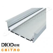 Комплект Biom 35х100 широкий профиль+рассеиватель 2м (врезной алюминиевый профиль+матовый рассеиватель)