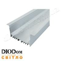 Комплект Biom 32х55 широкий профиль+рассеиватель 2м (врезной алюминиевый профиль+матовый рассеиватель)