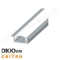 Комплект Biom 7х16 профиль+рассеиватель 2м (врезной алюминиевый профиль+матовый рассеиватель)