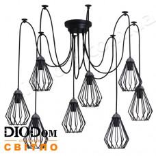 Светильник потолочный подвесной Loft NL 05371/8 spider Black Украина