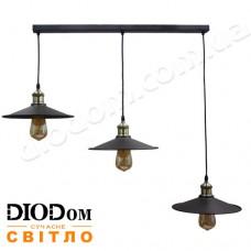 Светильник потолочный подвесной Loft NL 117-260-3 Black Украина