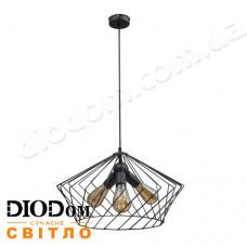 Светильник потолочный подвесной Loft NL 3329-3 Black Украина