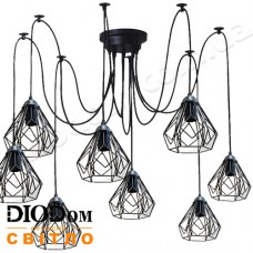 Светильник потолочный подвесной Loft NL 538/8 spider Black Украина
