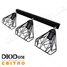 Светильник потолочный подвесной Loft NL 5381-3 Black Украина