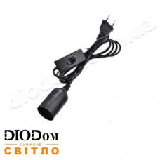 Подвесной силиконовый светильник Lemanso 1м черный LMA076 c выключателем и вилкой