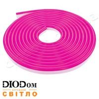Гибкий светодиодный неон Biom 220В 120led smd3528 IP65 розовый