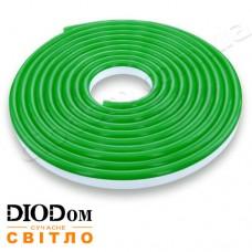 Гибкий светодиодный неон Biom 220В 120led smd3528 IP65 зеленый