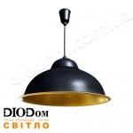 Светильник потолочный подвесной Loft СП 3614 Черный с золотом Ukraine