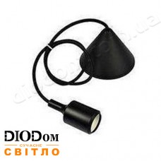Подвесной силиконовый светильник V-образный E27 (черный) 1м LMA072 60W Lemanso