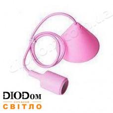 Подвесной силиконовый светильник V-образный E27 (розовый) 1м LMA072 60W Lemanso