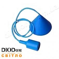 Подвесной силиконовый светильник V-образный E27 (синий) 1м LMA072 60W Lemanso