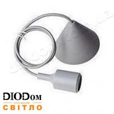 Подвесной силиконовый светильник V-образный E27 (серый) 1м LMA072 60W Lemanso