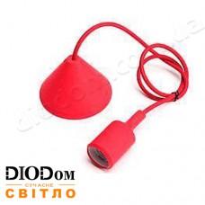 Подвесной силиконовый светильник V-образный E27 (красный) 1м LMA072 60W Lemanso