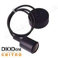 Подвесной силиконовый светильник E27 (чёрный) 1м LMA073 60W Lemanso