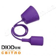 Подвесной силиконовый светильник T-образный E27 (фиолетовый) 1м LMA074 60W Lemanso