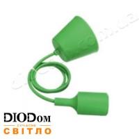 Подвесной силиконовый светильник T-образный E27 (зеленый) 1м LMA074 60W Lemanso