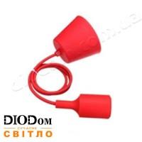 Подвесной силиконовый светильник T-образный E27 (красный) 1м LMA074 60W Lemanso