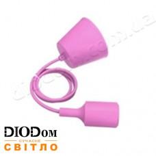 Подвесной силиконовый светильник T-образный E27 (розовый) 1м LMA074 60W Lemanso