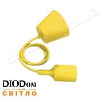 Подвесной силиконовый светильник T-образный E27 (желтый) 1м LMA074 60W Lemanso