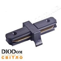 Коннектор прямой для трекового светильника Feron LD1000 черный