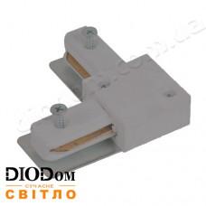 Коннектор угловой для трекового светильника Horoz серый
