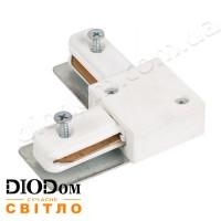 Коннектор угловой для трекового светильника Horoz белый